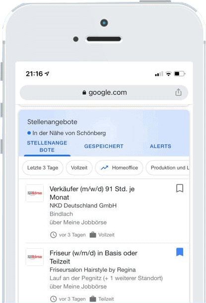 stellenanzeigen kostenlos schalten bei google for jobs